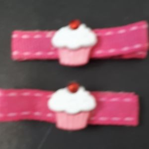 Other - ⬇️Handmade Kiddie Clips - Pink Cupcakes